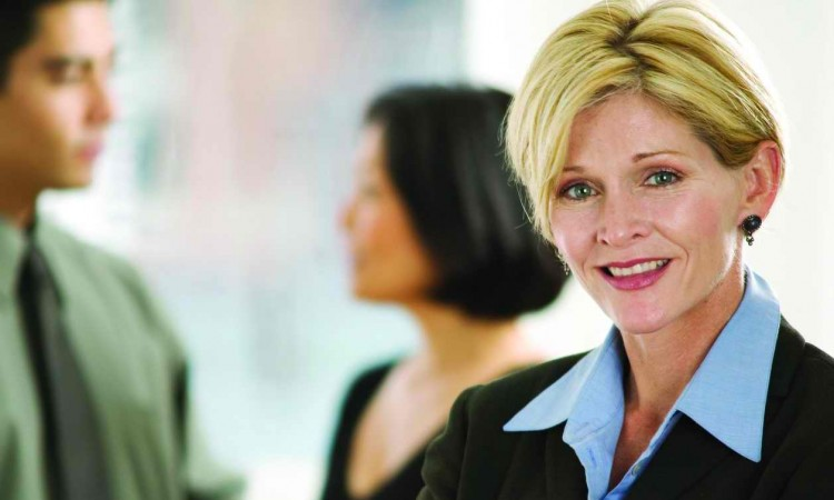 Confident Businesswoman Smiling