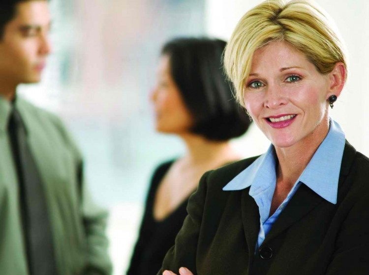 Confident Businesswoman Smiling